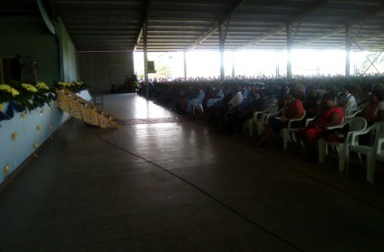 The crowd at the ceremony today