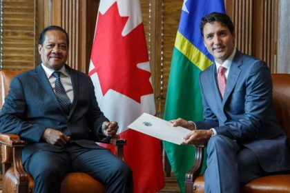 Solomon Islands ambassador meets Canadian Prime Minister Justin Trudeau