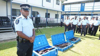 Police destroy surrendered guns