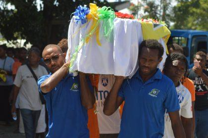 Hundreds farewell Solomons' football great Menapi
