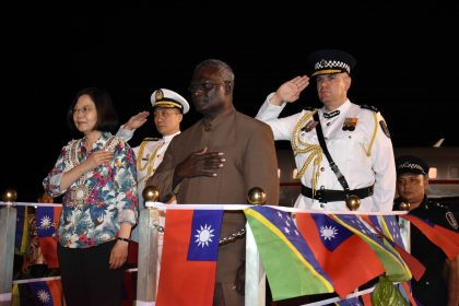 Taiwan president set to address parliament after red carpet treatment
