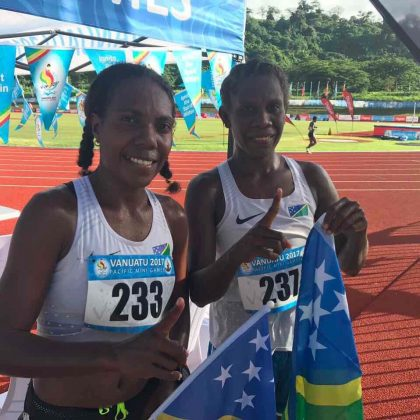 Solomons wins gold, silver in 10000m at Pacific Mini Games