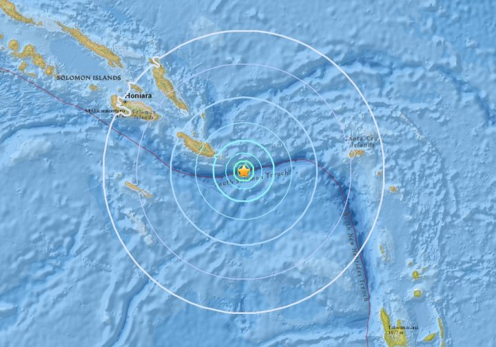 Magnitude 5.9 earthquake strikes off Makira coast