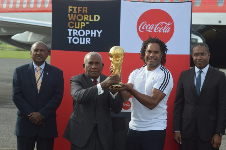 FIFA World Cup trophy visits the Solomons