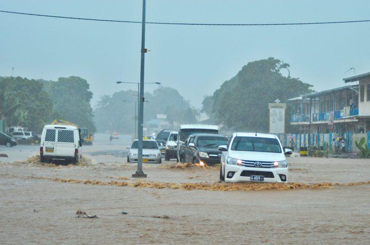 Heavy rain causes roads, drains to flood in Honiara
