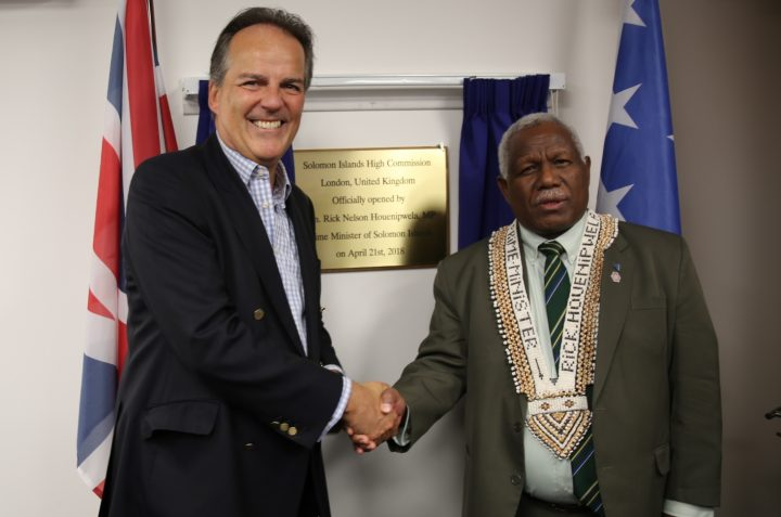 PM opens Solomon Islands mission in London