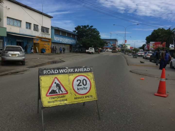 Provincial road upgrades in progress.