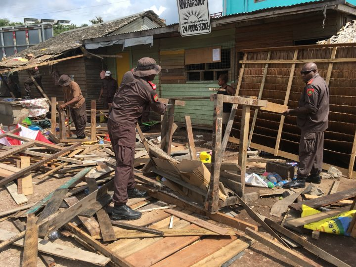 Illegal Rove betel nut market demolished