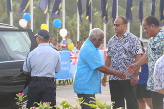 Prime Minister Houenipwela arrives in Nauru for PIF meeting