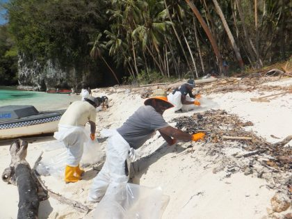 Oil spill cleanup nears completion