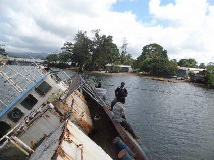 Oil Spill ravages Namuga shoreline