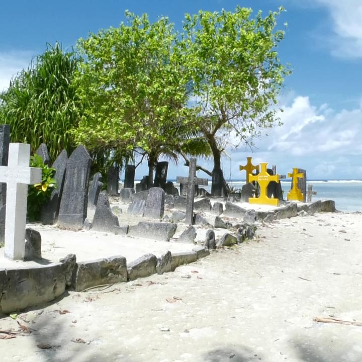 Climate change affected islanders seeking refuge