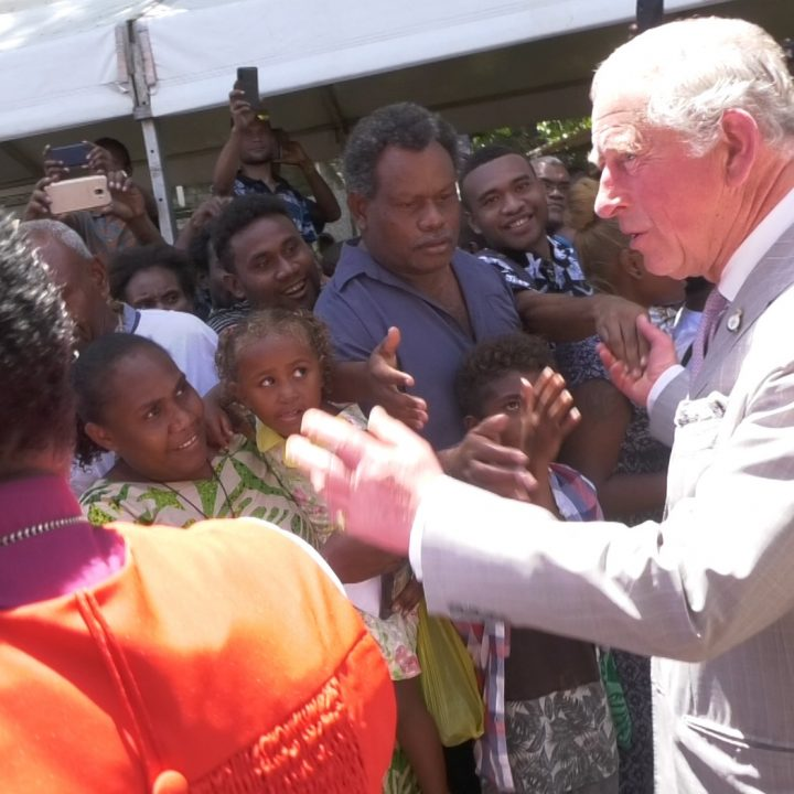 Prince Charles welcomed