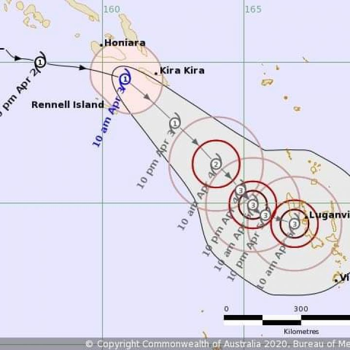 TROPICAL CYCLONE WARNING #4 issued at 1:30PM on 03 April 2020.