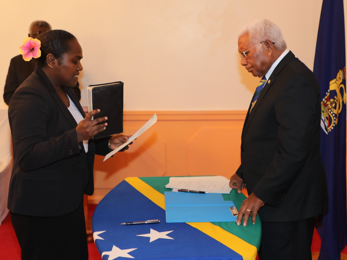 Two Gov't Ministers axed; two new ones sworn in.