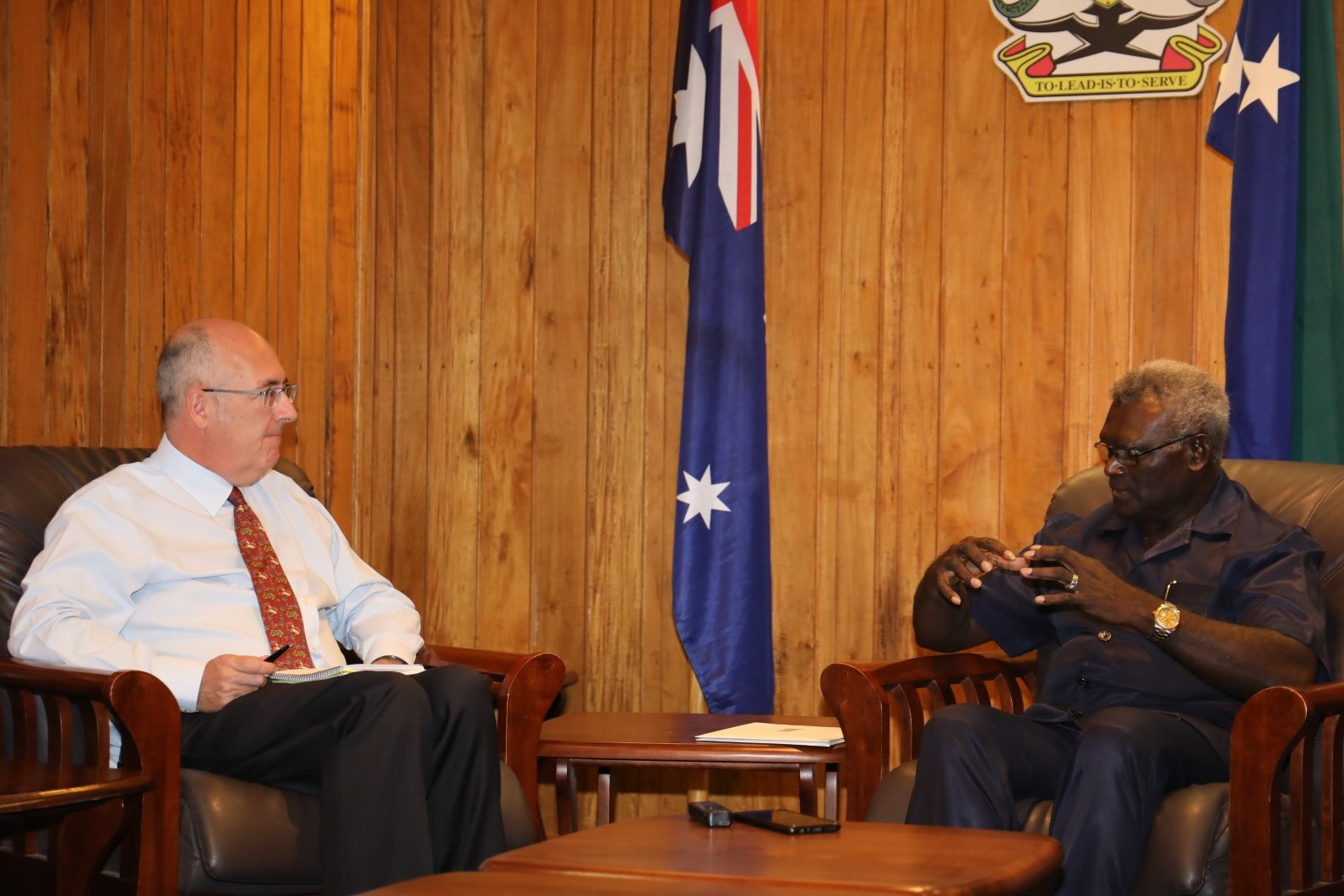 Australian High Commissioner officially visited PM Sogavare